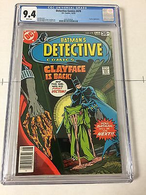 Detective Comics 478 Cgc 9.4 White Pages