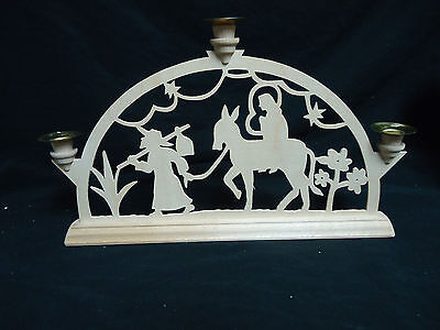Handcrafted German Candle Arch Laubsagearbeiten Mary and Joseph Christmas 13 X 8