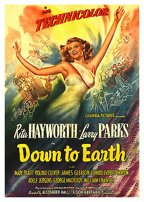 Down to Earth (1947) - A1/A2 POSTER **BUY ANY 2 AND GET 1 FREE OFFER**