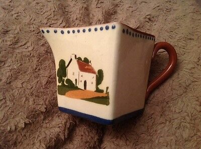 Devon Pottery Mottoware Jug Early Sow Early Mow.                       (605)