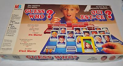 GUESS WHO? vintage Milton Bradley BOARD GAME 1980s Complete