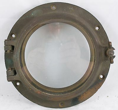 Antique bronze porthole,  porthole nautical  WC #6 porthole with trim ring