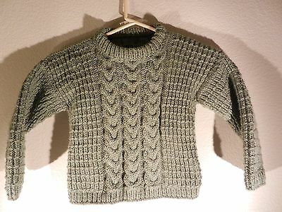 Irish Fisherman Cable-knit Sweater * Toddler 3 /4 Boy Girl * Hand knitted
