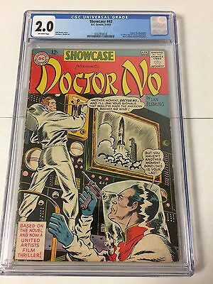 Showcase 43 Cgc 2.0 Off White Pages First James Bond Silver Age