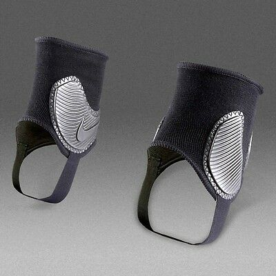 NEW Nike Ankle Shield 2.0 Football Rugby Hockey Guard Pad ( 1 pack =1pair )Black