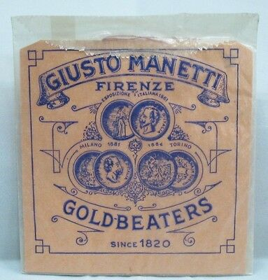 "Giusto Manetti XX Deep Glass 23K Karat Gold Leaf 25 Leaves 3 3/8""x3 3/8"" Square"