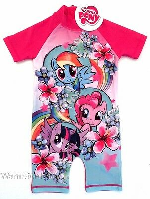 Girls MY LITTLE PONY Surfsuit, swimming costume, swimsuit - Ages 18mths - 5yrs