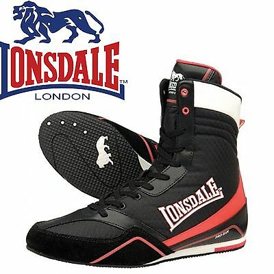 Lonsdale Quick Boxing BootsBlack/Red Trainers Shoes Classic Sportswear