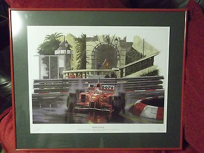 "RARE COLLECTABLE Michael Schumacher ""Rain Dance"" Limited Edition Picture Signed"