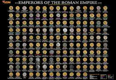 Emperors of Roman Empire AND British Kings & Queens Coin Chart Included FREE