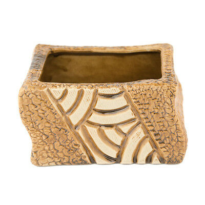 Mosaic Brown Curved Planter