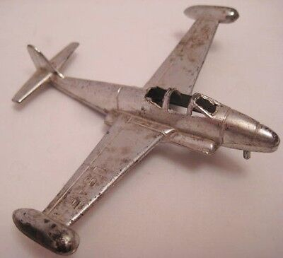 Unusual Old Hard Plastic Toy Military Jet Fighter Airplane X-89 Scorpion 1950s