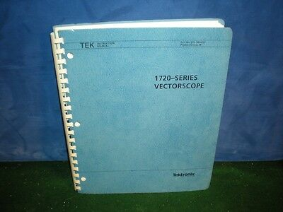 Tektronix Instruction Manual book 1720 SERIES VECTORSCOPE Revised SEPT 1989
