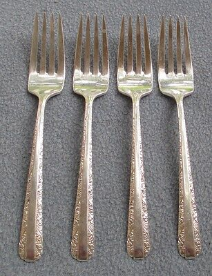 Set of FOUR Towle Candlelight Sterling Silver Dinner Forks