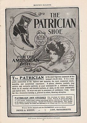1902 Faunce & Spinney Lynn MA Ad: The Patrician Shoe for the American Girl