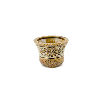 Flower Tapered Brown Small Planter
