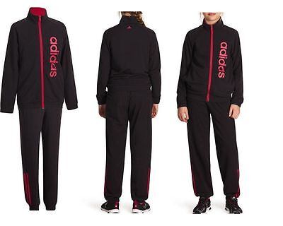 Girls Adidas Black Tracksuit 9-10 Years Polyester /cotton New £26.99
