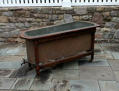 Antique Copper Bathtub  With Wood Frame French ?