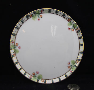 "Antique 6"" Hand Painted Nippon Trivet With Rim ! Ready To Ship."