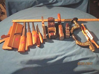 Antique Woodworking Carpentry Tools - Large Lot