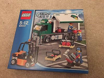 LEGO 60020 City Cargo Truck Lorry Forklift Pallets BRAND NEW / SEALED -Retired-
