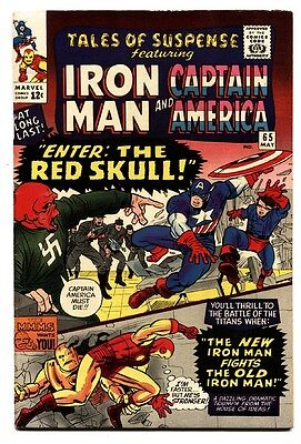 TALES OF SUSPENSE #65 comic book FN+ 1965-1ST S.A. RED SKULL