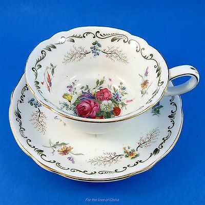 Pretty Floral Ye Olde English Grosvenor Tea Cup and Saucer Set