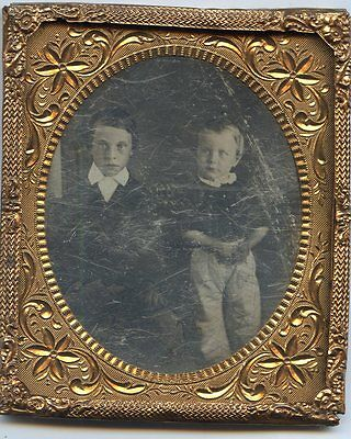 Daguerreotype 2 Boys Probably Brothers