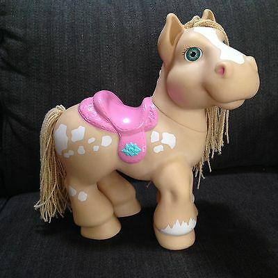 Vtg Cabbage Patch Kids CPK Crimp n Curl Horse Pony Pink Saddle Blonde Hair HTF