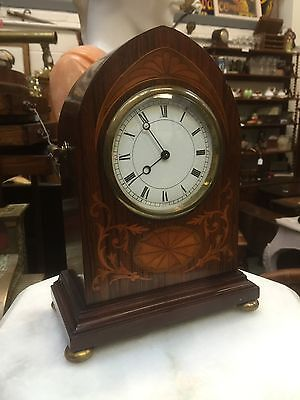Superb Inlaid Mahogany Antique 8 Day Clock. Circa 1890. Open To Offers.