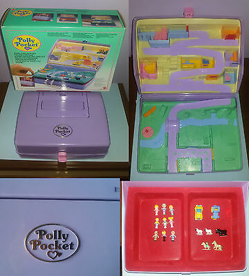 Polly Pocket 1989 Portagioie - Jewel Case playset 100% completo with box