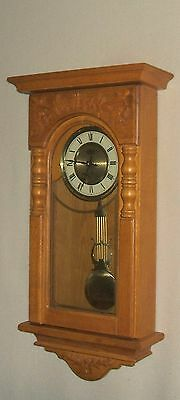 """D&A 24"""" tall Oak Parlor Clock with Westminster Chimes on the Hour"""