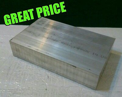 "1.5""X 4"" X 6"" long new 6061 solid aluminum stock plate flat bar mill block 1-1/2"