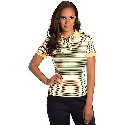 40ff01e546 Sweet Vibes Junior Women Polo Shirt Yellow Stretch Rib Contrast Yarn Dyed  Stripe