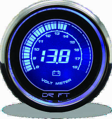 DRIFT 52mm IRIDIUM BLUE DIGITAL BOOST, OIL PRESSURE; VOLT GAUGE SET