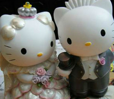 Dear Daniel Groom & Hello Kitty Bride Couple Nice Wedding Gift Resin Coin Saver