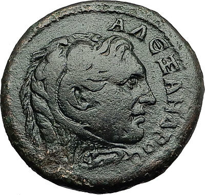 ALEXANDER III the GREAT on Bucephalus Macedonia Koinon Ancient Greek Coin i58305