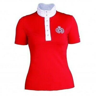 NEU Tournament blouse/Competition shirt Fairplay DIANA with Rhinestone ROT