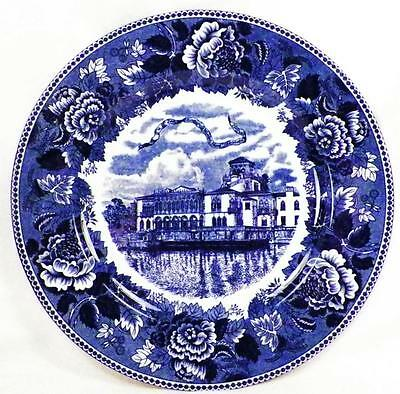 Ringling Brothers Circus Plate Winter Headquarters Blue Transferware Jonroth Vin