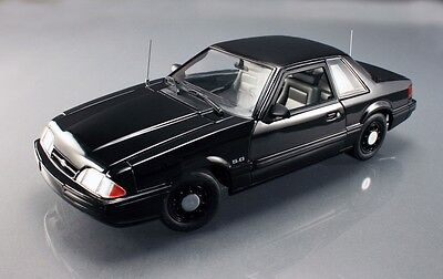GMP 1992 Ford Mustang 5.0 SSP FBI Pursuit Car - Blacked out 1/18