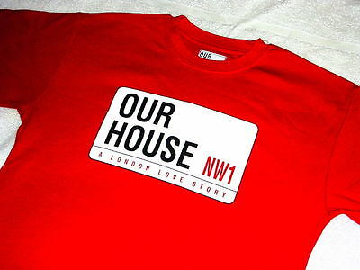 JOB LOT: 8x OUR HOUSE MADNESS MUSICAL - SMALL SIZE RED T SHIRTS - SUGGS TWO TONE
