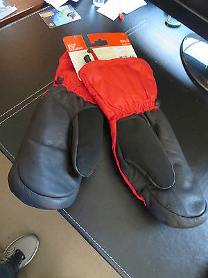 New Arcteryx North Face Nuptse Mitts SIze Small Color Red