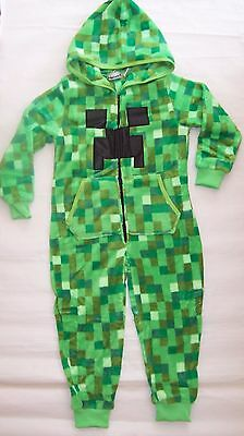 Computer Video Game Coral Velvet Hoodie Sleepsuit Pyjamas Romper Sleepwear 6-10