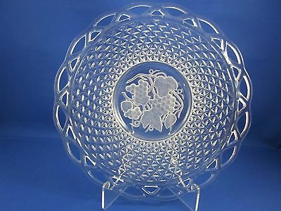 Imperial Glass Company Lace Edge with Grape Center Platter Serving