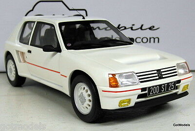 Otto 1/18 Scale - OT162 Peugeot 205 T-16 White Group B Homologation Road version