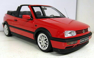 Otto 1/18 Scale Volkswagen Golf MK3 Cabriolet Sport red Resin sealed Model Car