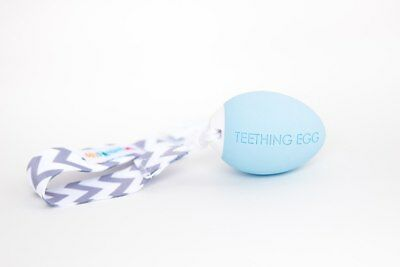 The Teething Egg in Blue, Green, Pink, Yellow