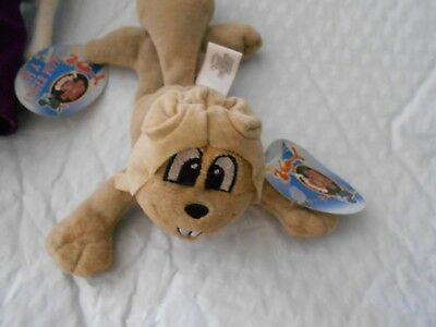 VTG Rocky Flying Squirrel Plush Toy & Natasha Finger Puppet