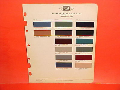1950 Studebaker Commander Champion Convertible Coupe Land Cruiser Paint Chips 50
