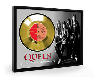 Queen Crazy Little Thing Called Love Framed Gold Disc Display Vinyl (C1)